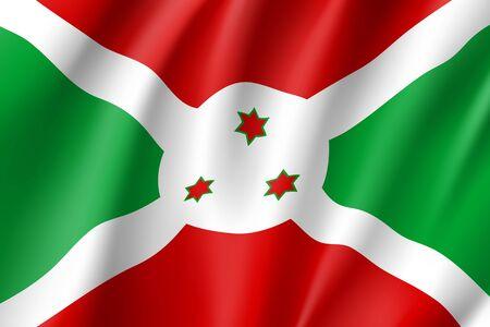 proportional: National flag Republic of Burundi. Illustration