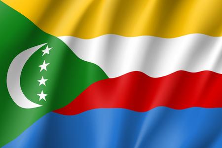 comores: Vector national flag of Comoros. Illustration