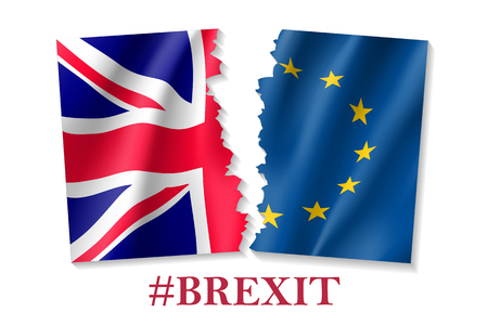 Vector illustration of Brexit symbol Stock Illustratie