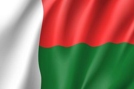 Vector national flag of Madagascar.