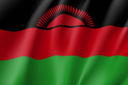 Vector national flag of Malawi.