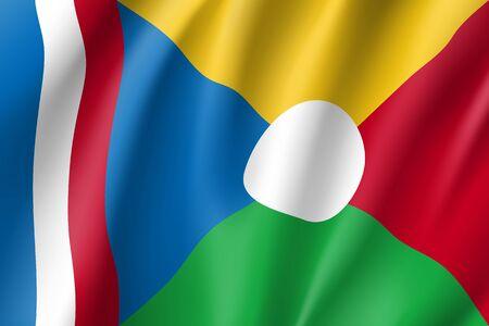 la: Waving flag of La Reunion