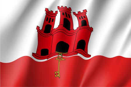 The Gibraltar national flag vector illustration