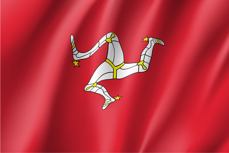Isle of Man national flag vector illustration Illustration