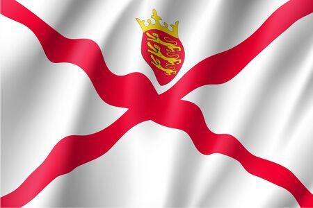 Jersey national flag vector illustration
