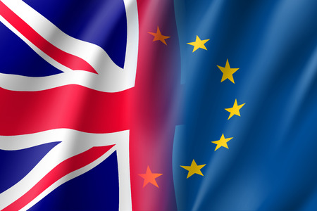 Symbol United Kingdom is EU member. Illustration