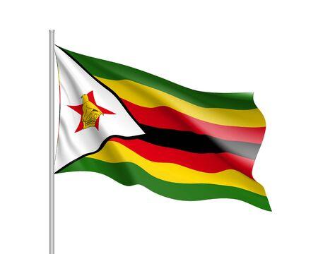 Vector national flag of Zimbabwe. Illustration