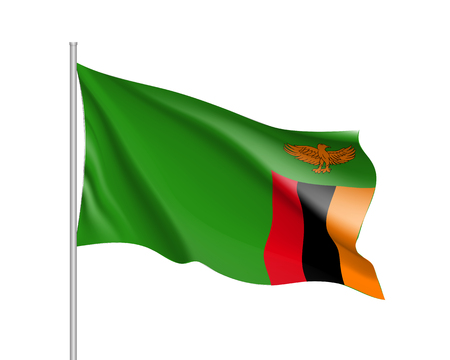 National flag Republic of Zambia.
