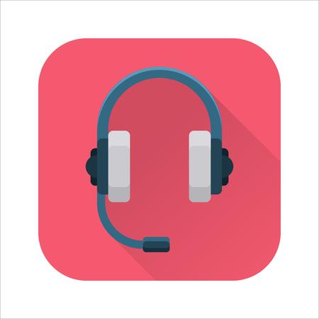 portable audio: Headphones flat icon Illustration