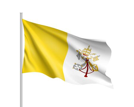 바티칸 시티 국가의 국기.