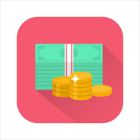 Flat money icon Illustration