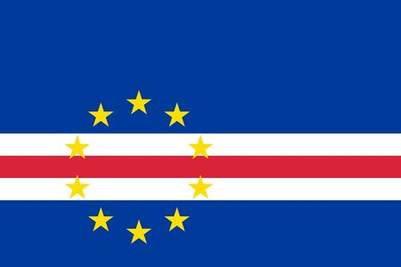 Cape Verde country flat style flag