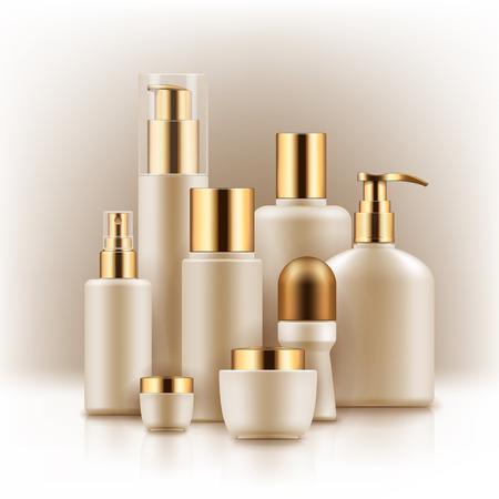 Plantillas en blanco de productos cosméticos