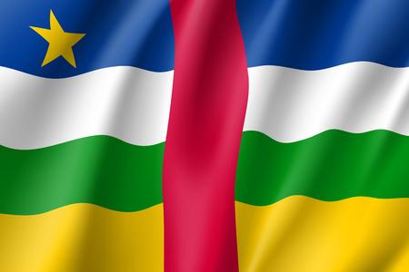 Central African Republic flag Illustration