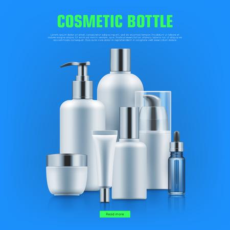 Cosmetic bottle realistic Illustration