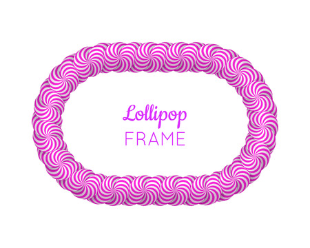 Lollipop violet frame