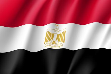 Egypt realistic flag