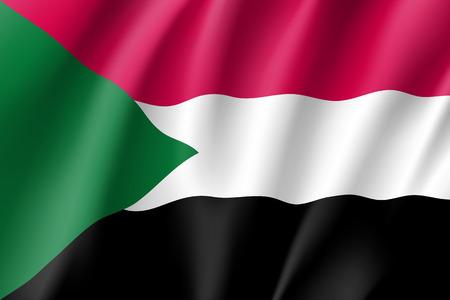 accurate: Sudan realistic flag