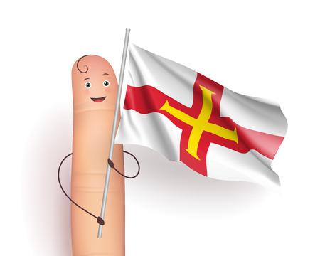 Guernsey wind flag