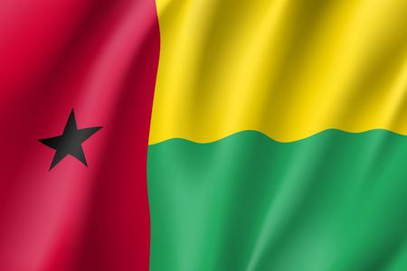 Guinea-Bissau realistic flag