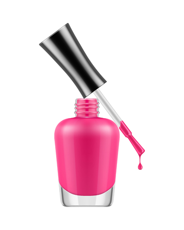 Realistic nail polish bottle