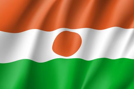 Niger realistic flag