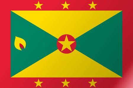 Flag Grenada flat icon Illustration