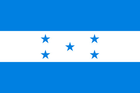 Flag Honduras flat icon. State insignia of the nation in flat style on the entire page. National symbol in the form of a vector illustration
