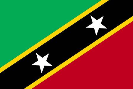 national identity: Flag of Saint Kitts flat icon