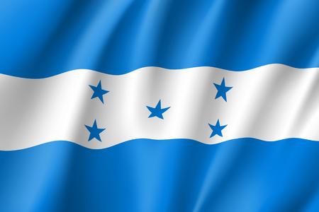 Flag Honduras realistic icon Illustration