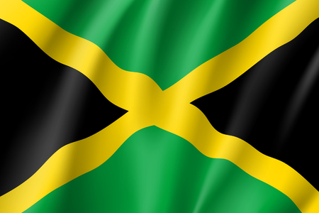 Flag Jamaica realistic icon