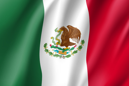 Flag Mexico realistic icon