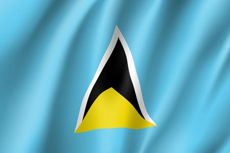 Flag Saint Lucia realistic icon vector illustration.