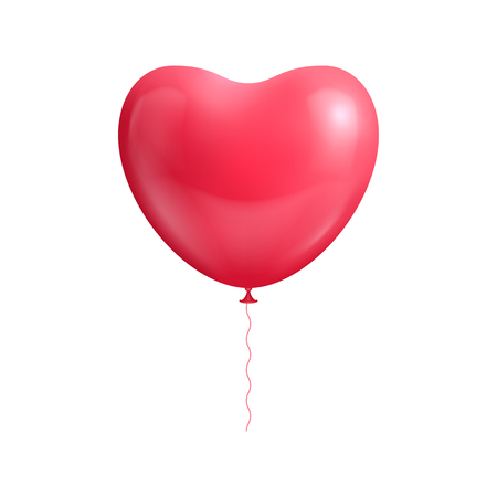 Heart shape balloon isolated