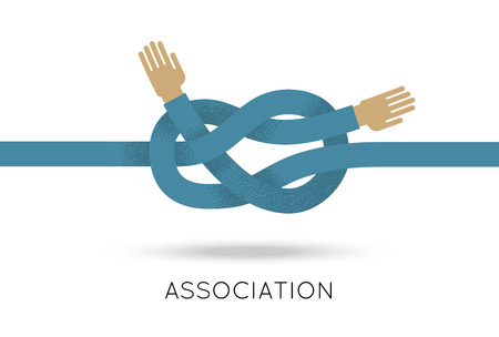 Association hands sea knot asymmetric flat style