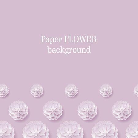Carte papier fleur fond violet ci-dessous. Fleur de papier de carte dans un fond violet d'en bas pour des concepteurs et des illustrateurs. Artisanat comme une illustration vectorielle Banque d'images - 87710812