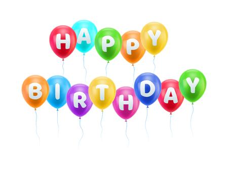 Congratulations happy birthday heavens balls Illustration