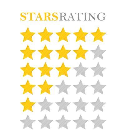 estimation: Golden star rating
