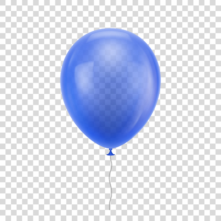 Blue realistic balloon. Vettoriali