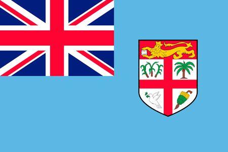 Flag Fiji Islands flat style