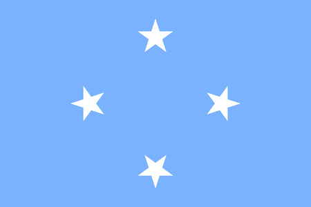 Flag Federated States Micronesia flat style. The icon of national symbol. Union sign in flat style on the entire page as vector illustration