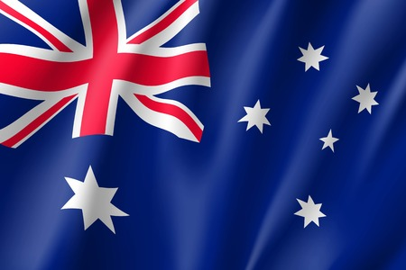 Waving flag of Australia 免版税图像 - 91383179