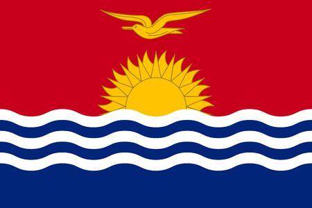 Flag state Kiribati flat style