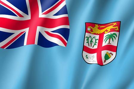 Waving flag of Fiji