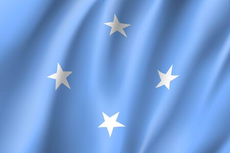 Waving flag of Federated States Micronesia