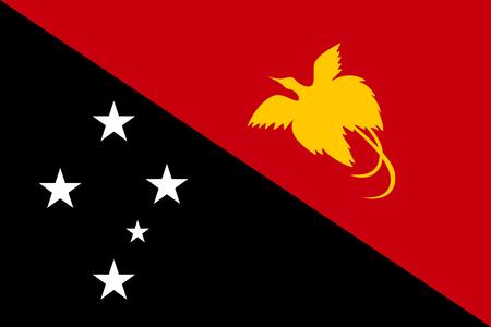 Flag Papua New Guinea flat style Фото со стока