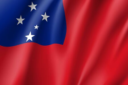 Waving flag of Samoa Illustration