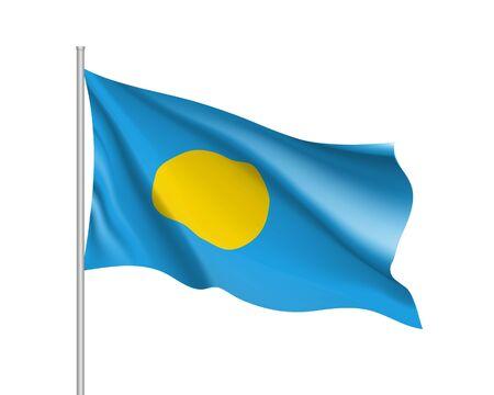 Waving flag of Republic Palau