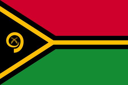 Vanuatu flag in  flat style illustration. Illustration