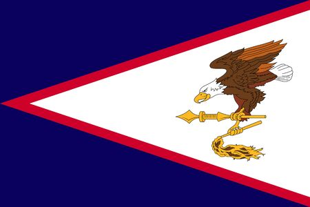 Flag of American Samoa flat style.